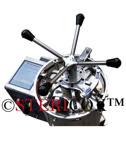 Double Drum Surgical Autoclave Radial Locking Mechanism